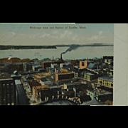 Birds Eye View of Seattle Washington Poly-Chrome Post Card