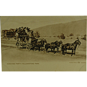 Haynes Photo Collotype Post Card of Coaching Party Yellowstone Park