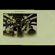 Burlington Route Dining Car Post Card