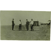 CYKO Real Photo of Four Men Playing Croquet