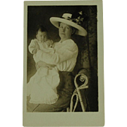 Real Photo Post Card of Woman and Infant