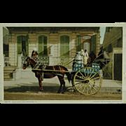 New Orleans Milk Cart Phostint By Detroit Publishing Company