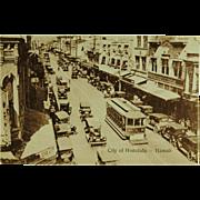 Honolulu Territory of Hawaii Street Scene From Hawaii and South Sea Curio Co