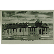 Bridger Montana The City School Post Card