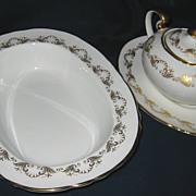 Aynsley Louis XV - Veg. Bowl, Sugar Bowl & Tray