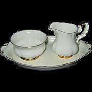 Royal Albert - Val D'Or - AD Creamer, Sugar Bowl & Tray