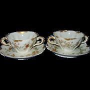 Haviland Limoges - Fancy Soup Cups