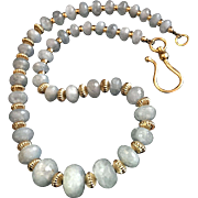 Exquisite Aquamarine Necklace, 19 Inches