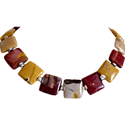 Man's Mookaite Necklace, 17 Inches