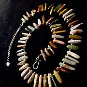Ocean Jasper Choker Necklace, 17 - 19.5 Inches