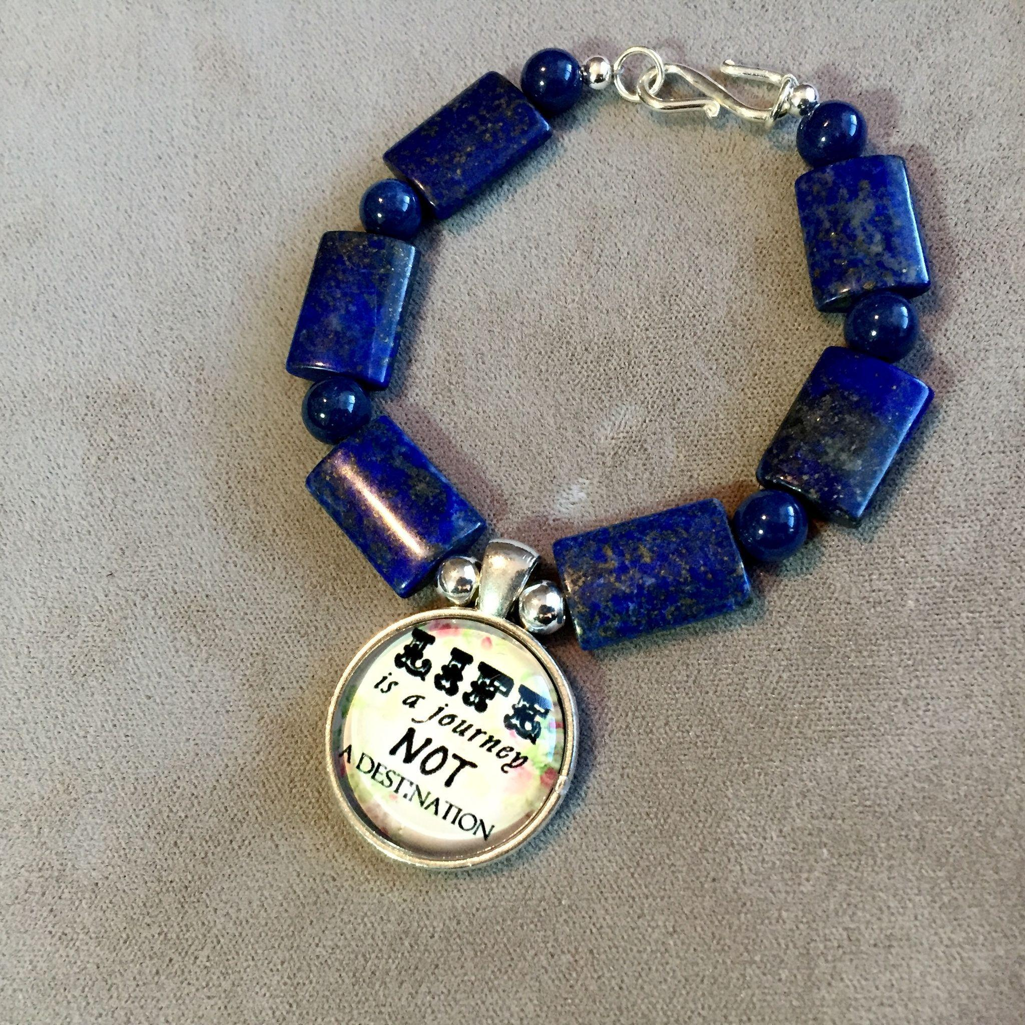 Life's Journey Bracelet of Lapis & Sterling Silver, 7-1/2 Inches