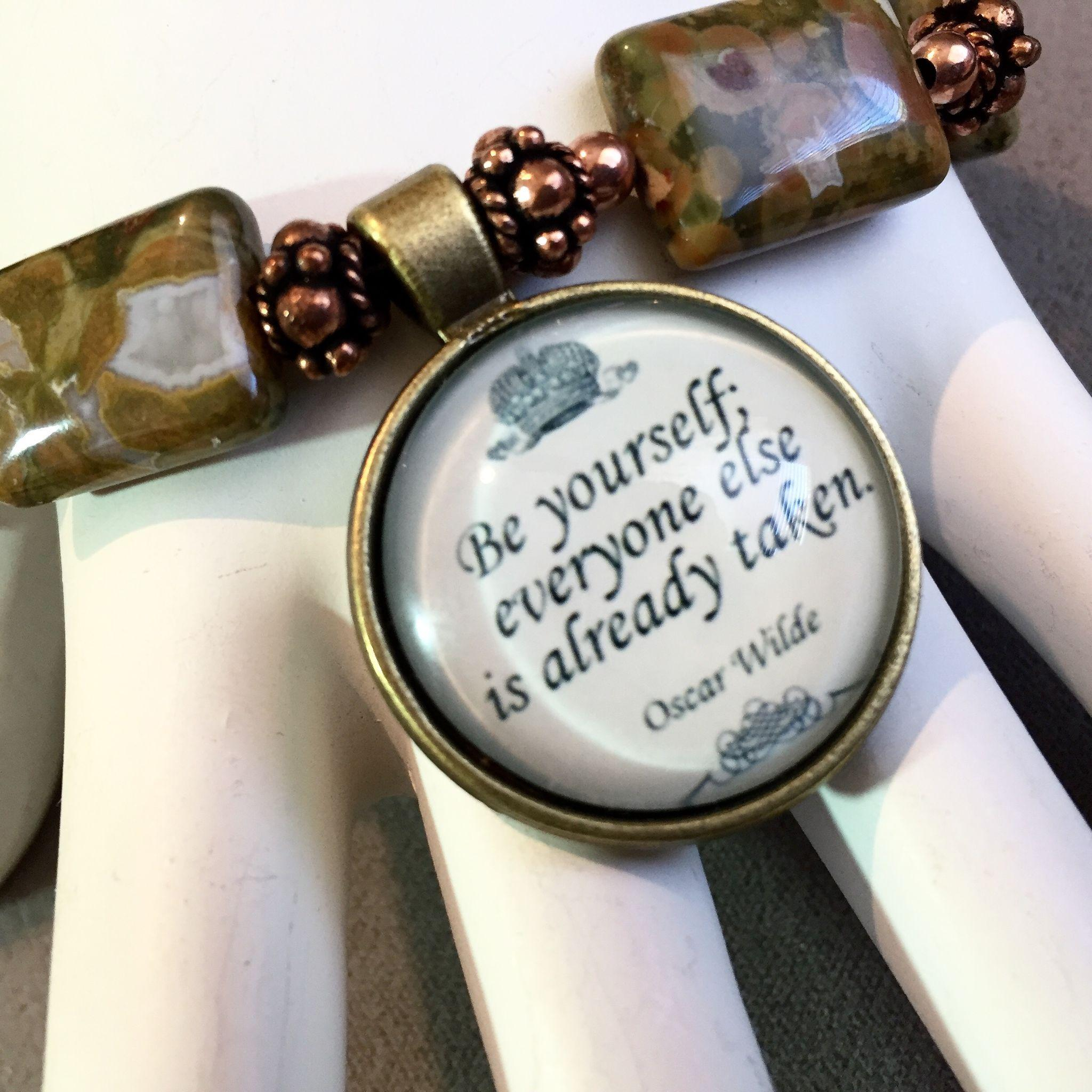 Being Yourself Bracelet of Rhyolite & Copper, 8-1/4 Inches
