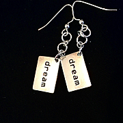 "Sterling Silver ""Dream"" Dangle Earrings, 2 Inches"