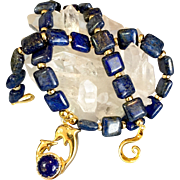 Lapis, Gold-Fill & 14K Gold Vermeil Necklace, 16 Inches