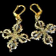 Brass Dorje Earrings, 2 Inches