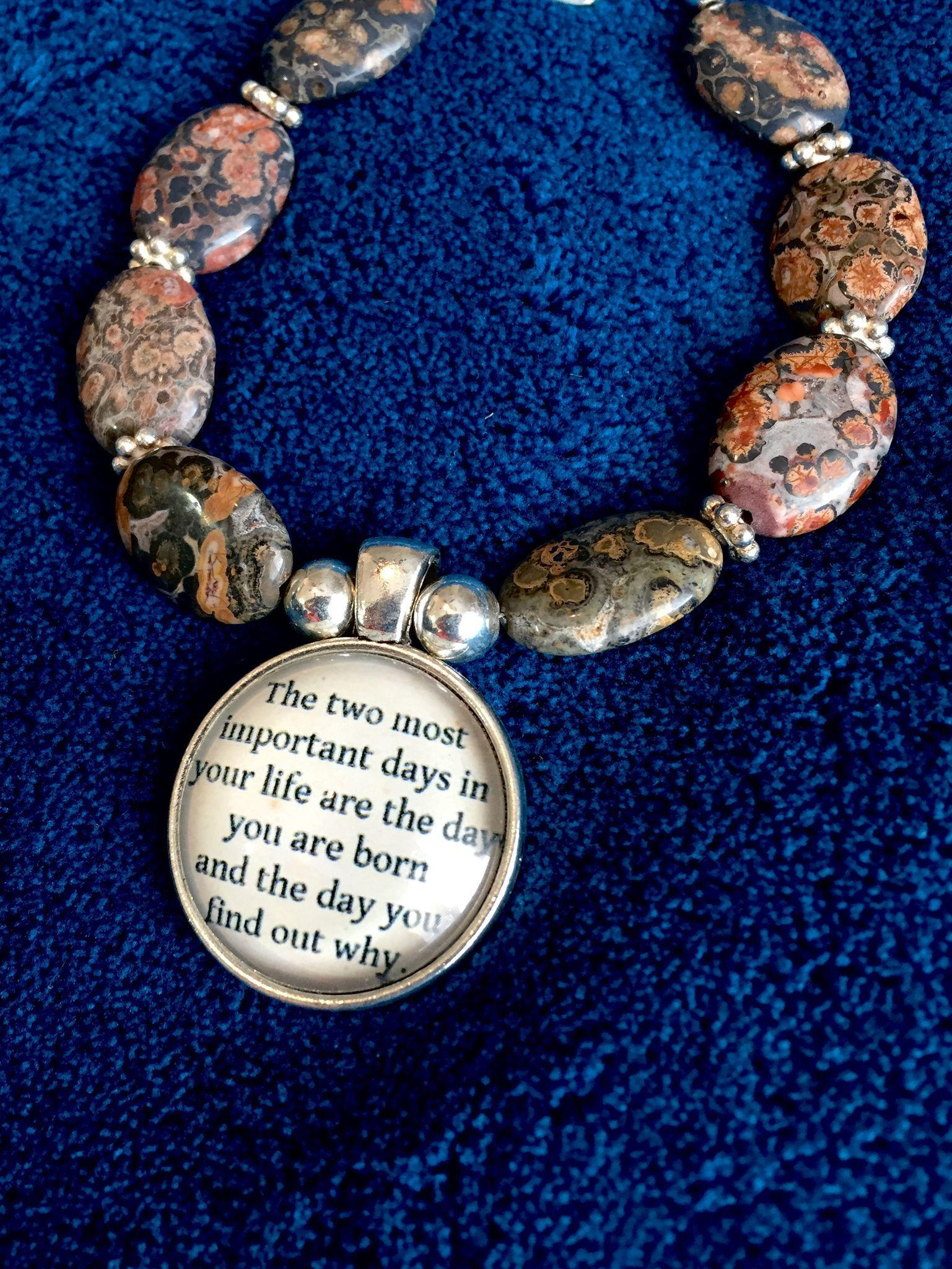 Two Important Days Bracelet of Leopardskin Jasper, 7-5/8 Inches