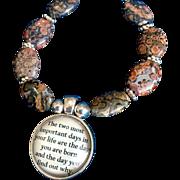 Two Important Days Bracelet of Leopardskin Jasper, 7-5/8 Inches
