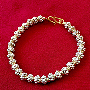Bali Sterling & Gold-Filled Bracelet, Custom Order for HD, 8-3/4 Inches