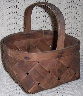 Primitive Wood Berry Basket