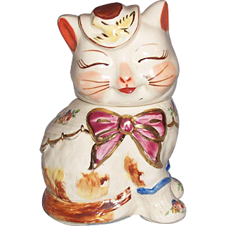 Shawnee Puss n Boots Short Tail Gold Trimmed Cookie Jar