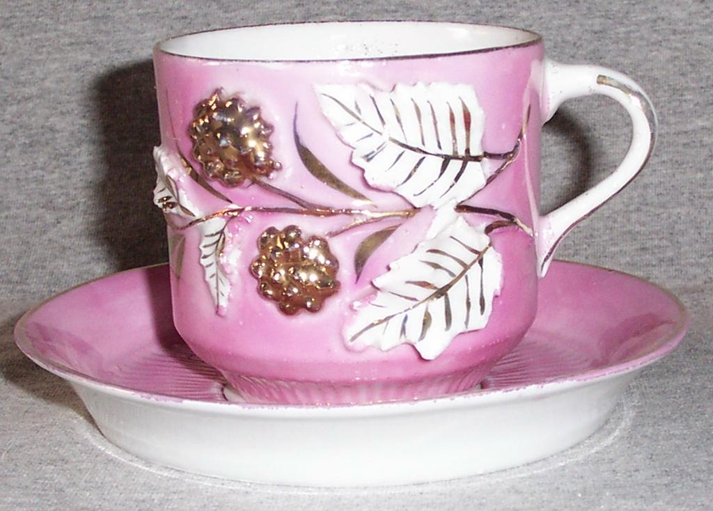 Antique Mustache Cup with Saucer