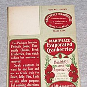 Makepeace Evaporated Cranberries Box