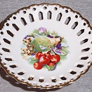 Vintage Napco Hand Painted Footed Dish