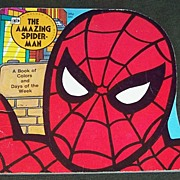 Vintage Spider Man Golden Shape Comic Book