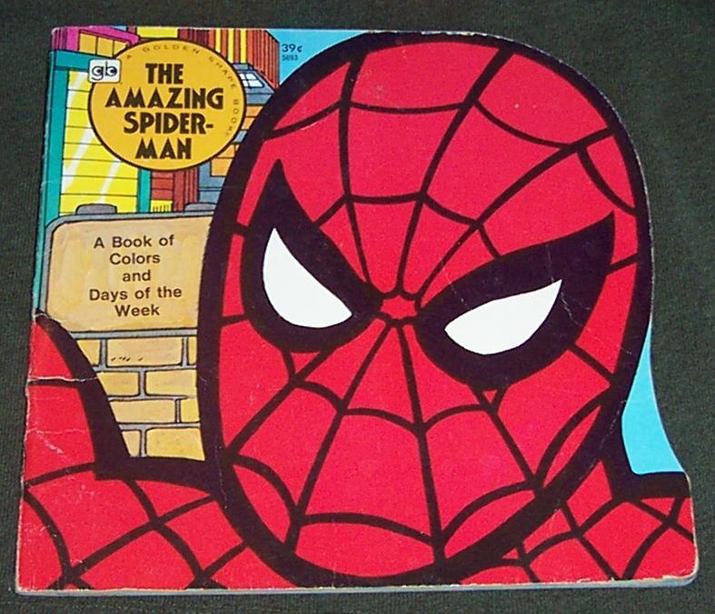 Vintage Spider Man Golden Shape Comic Book