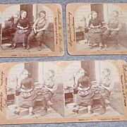 Stereo View Cards Set Of 3 Dutch Courtship Harmony