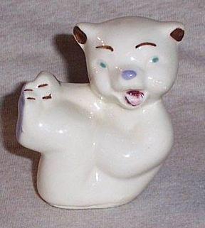 Shawnee Pottery  Miniature Tumbling Bear Vintage 1940's - 1950's