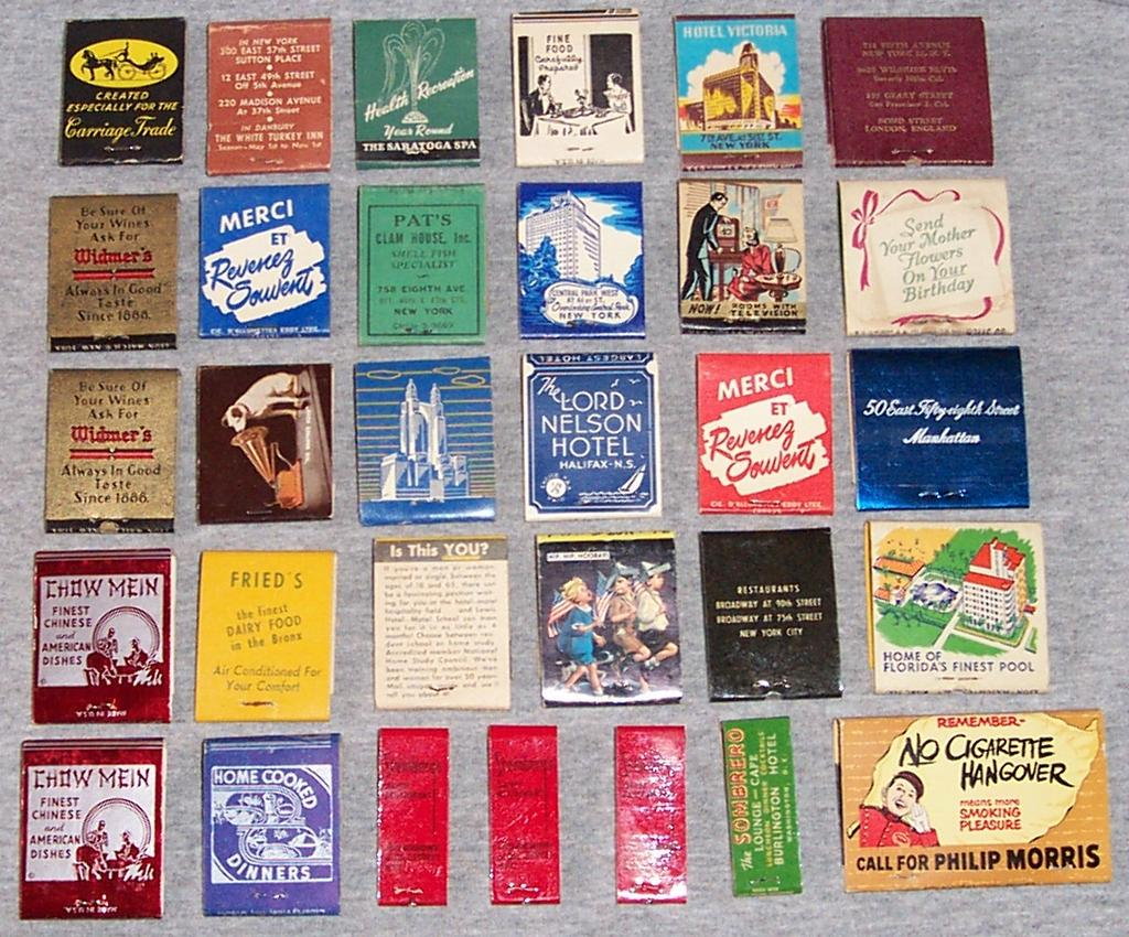 29 Vintage Advertising Match Books