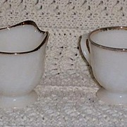 Anchor Hocking Fire King Cream and Sugar Set