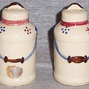 Vintage Shawnee Pottery Milk Can Salt and Peeper Shakers