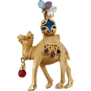 Vintage Napier Rhinestone Camel Figural Pin Brooch Book Piece Cover Of Napier Book