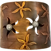 Vintage Rebajes Copper Cuff Bracelet