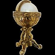 Vintage Ornate Globe on Stand Figural Brooch Pin