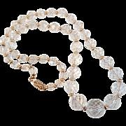 Vintage Gold Filled Crystal Necklace