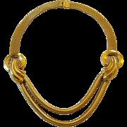 Vintage Retro 1940's Mesh Chain Swag Collar Choker Necklace