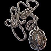 Vintage Creed Sterling Silver Ornate Miraculous Medal