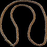 "Vintage Gold Filled Krementz 18"" Rope Chain"