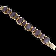 Juliana D&E Soft Lilac Purple Moonglow Glass Cabochon Bracelet