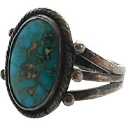Vintage Sterling Silver Turquoise Southwestern Ring Size 7