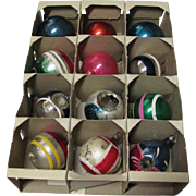 Box 12 Small Vintage Christmas Ornaments