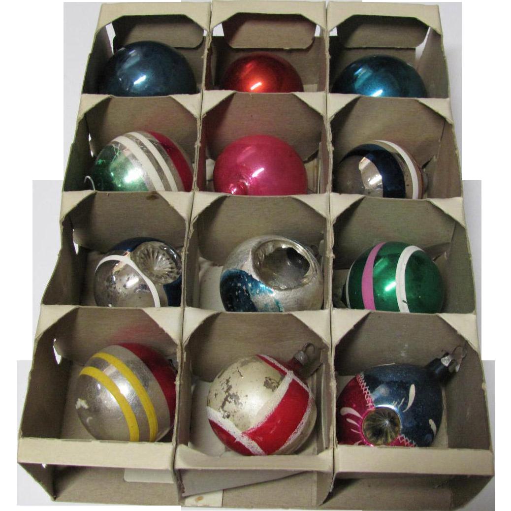 Box 12 Small Vintage Christmas Ornaments