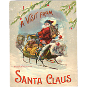 1901 A Visit From Santa Claus Soft Cover Book