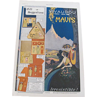 Art Deco 1920 Mavis Vivaudou Perfume Magazine Advertisement