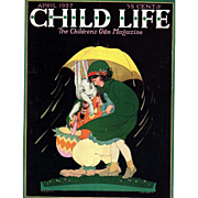 Easter Child Life April 1927 Cover Only
