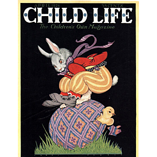 Easter Child Life April 1928 Cover Only