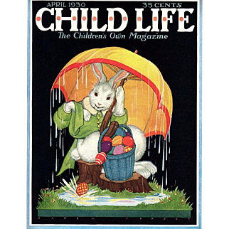 Easter Child Life April 1930 Cover Only